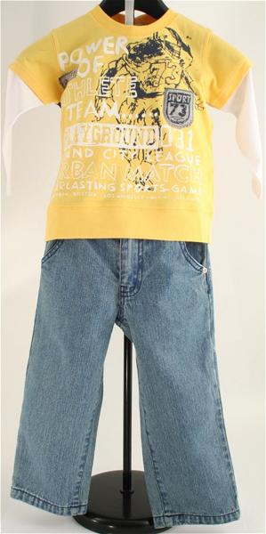 Immagine di Completo Jeans e Giallo