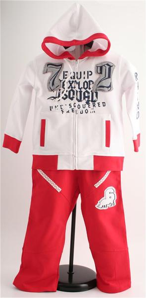Immagine di Tuta Jogging Bimbo rossa e bianco
