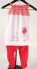 Immagine di Completo leggings bianco e rosso