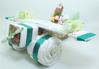 Immagine di Torta di Pannolini Aereo con parure lettino