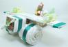 Immagine di Torta di Pannolini Aereo con parure carrozzina