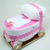 Immagine di Torta di Pannolini Carrozzina Rosa