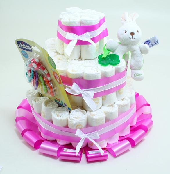 Immagine di Torta di Pannolini 3 PIANI Coniglietto