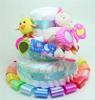 Immagine di Torta di Pannolini  3 Piani Multicolor Scoiattolo